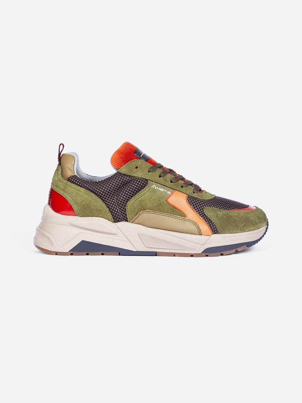 Kaki Cognac Sneakers