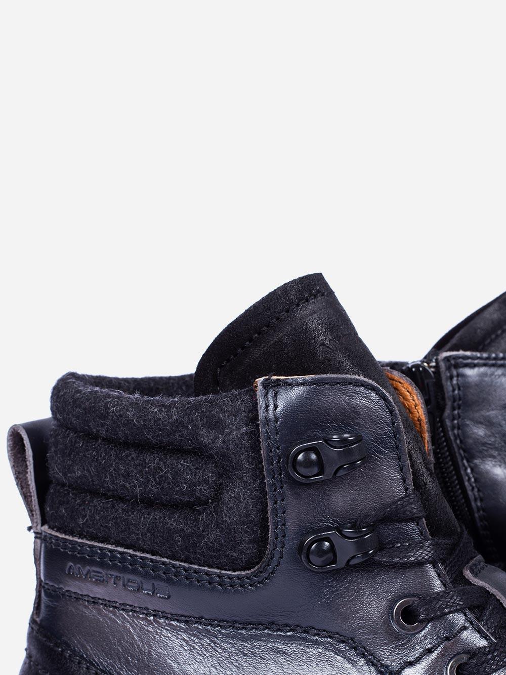 Dark Grey Boots