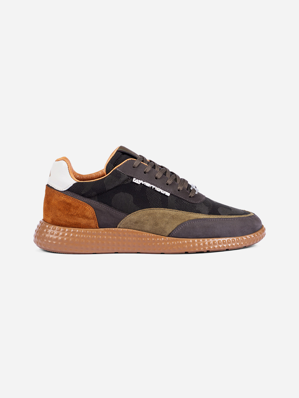 Kaki Leather Sneakers