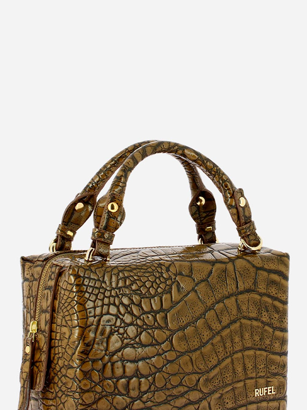 Croco Wild Taupe Handbag