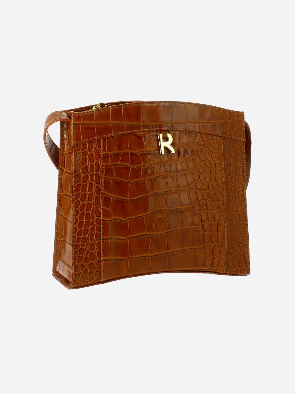 Croco Guilly Camel Crossbody Bag