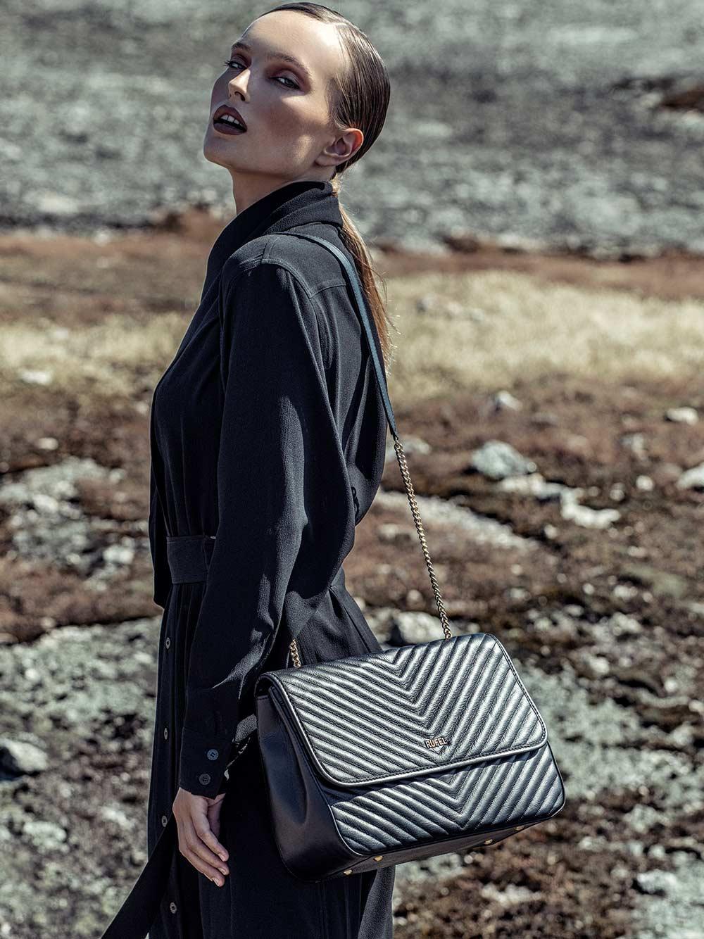 Nature CH Black Crossbody Bag