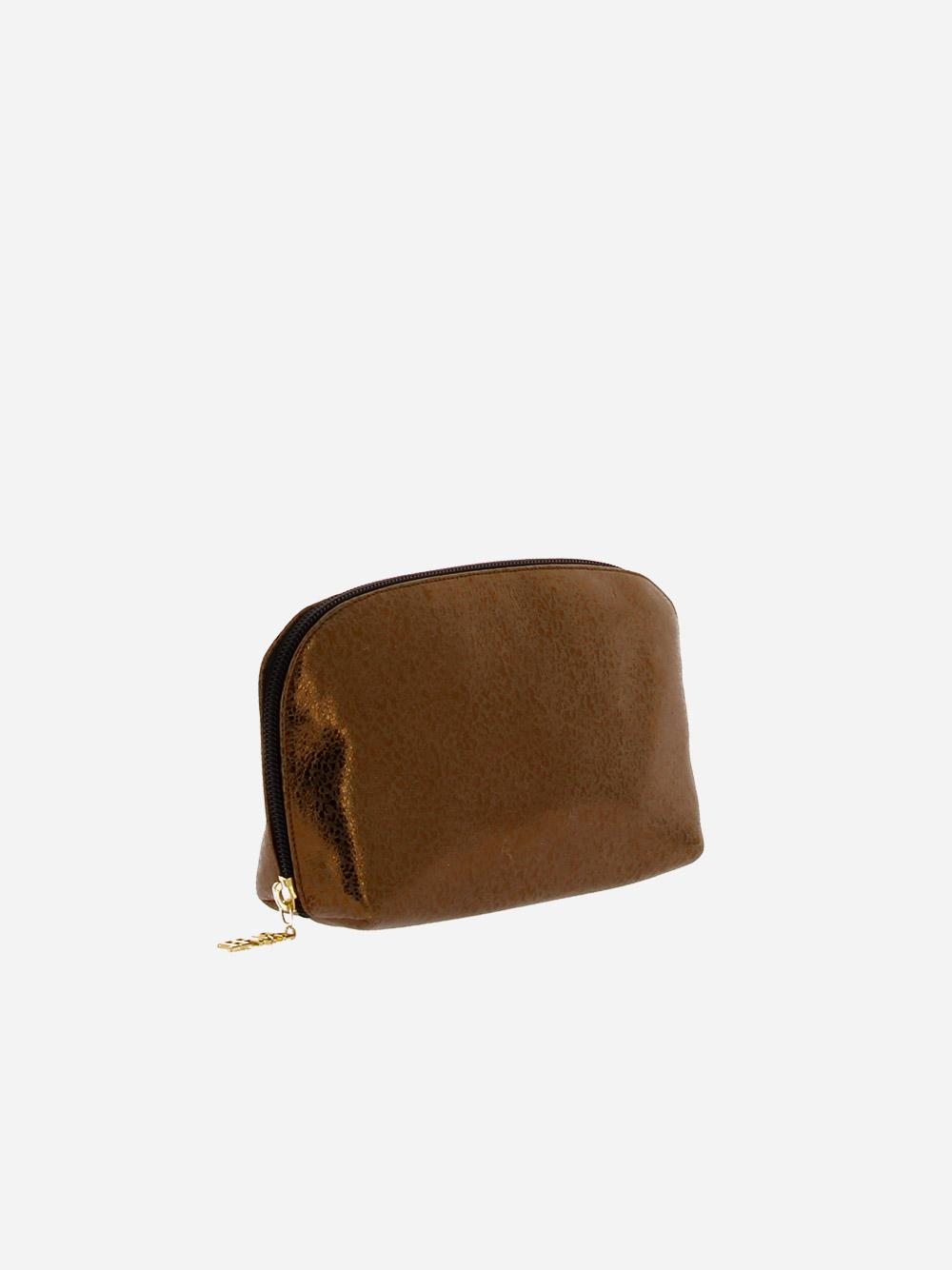 Medium Round Toiletry Bag Bronze