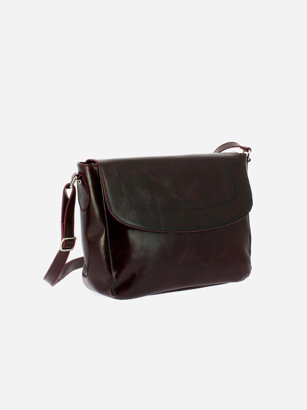 Burgundy Vega Crossbody Bag