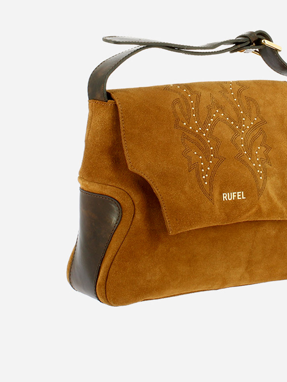 Suede & Leather Crossbody Bag