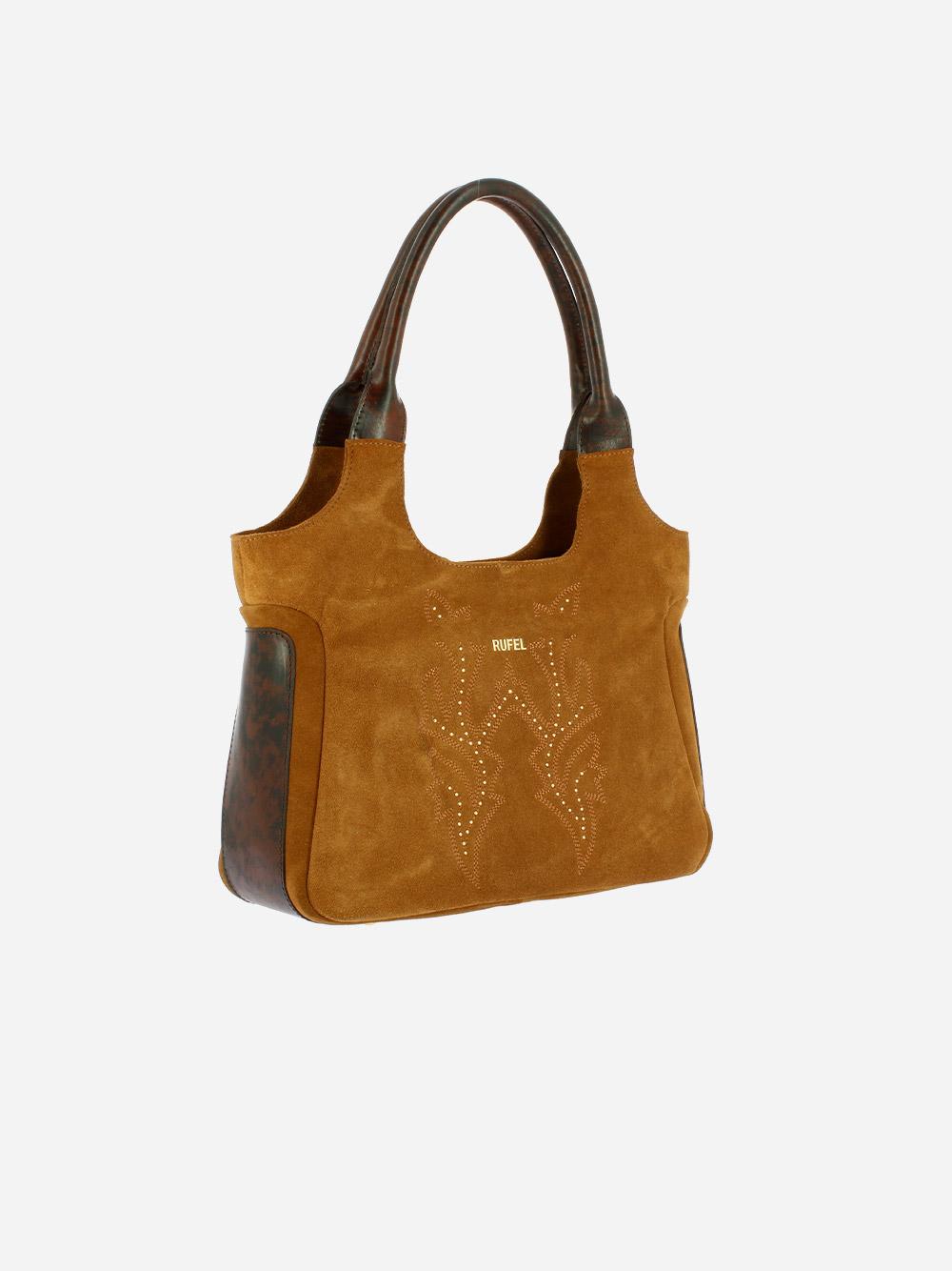 Suede & Leather Shoulder Bag