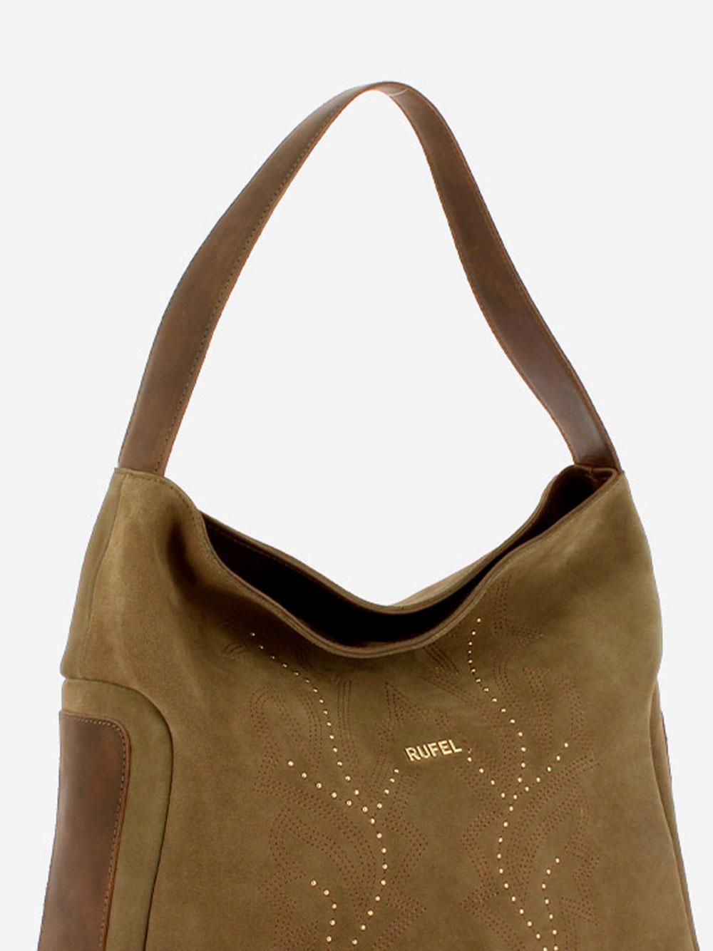 Suede Taupe Shoulder Bag