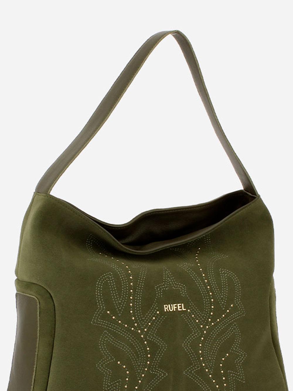 Suede Green Shoulder Bag