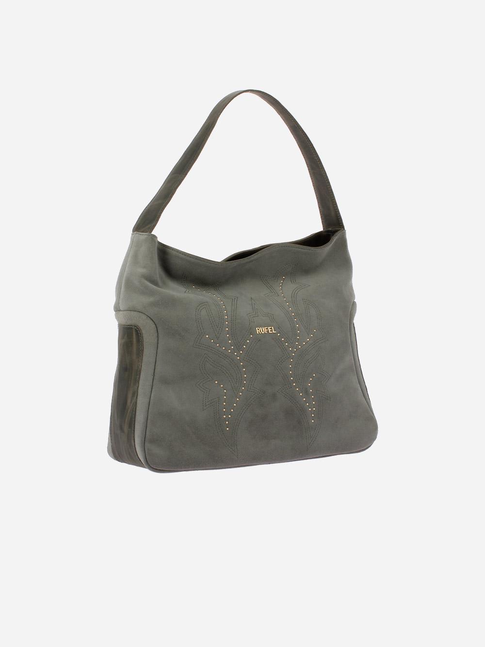 Suede Grey Shoulder Bag