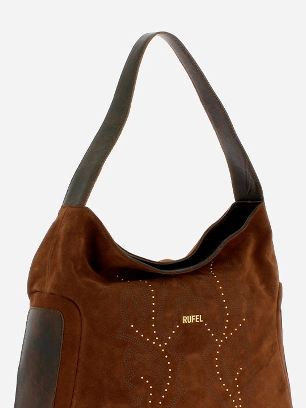 Suede Brown Shoulder Bag