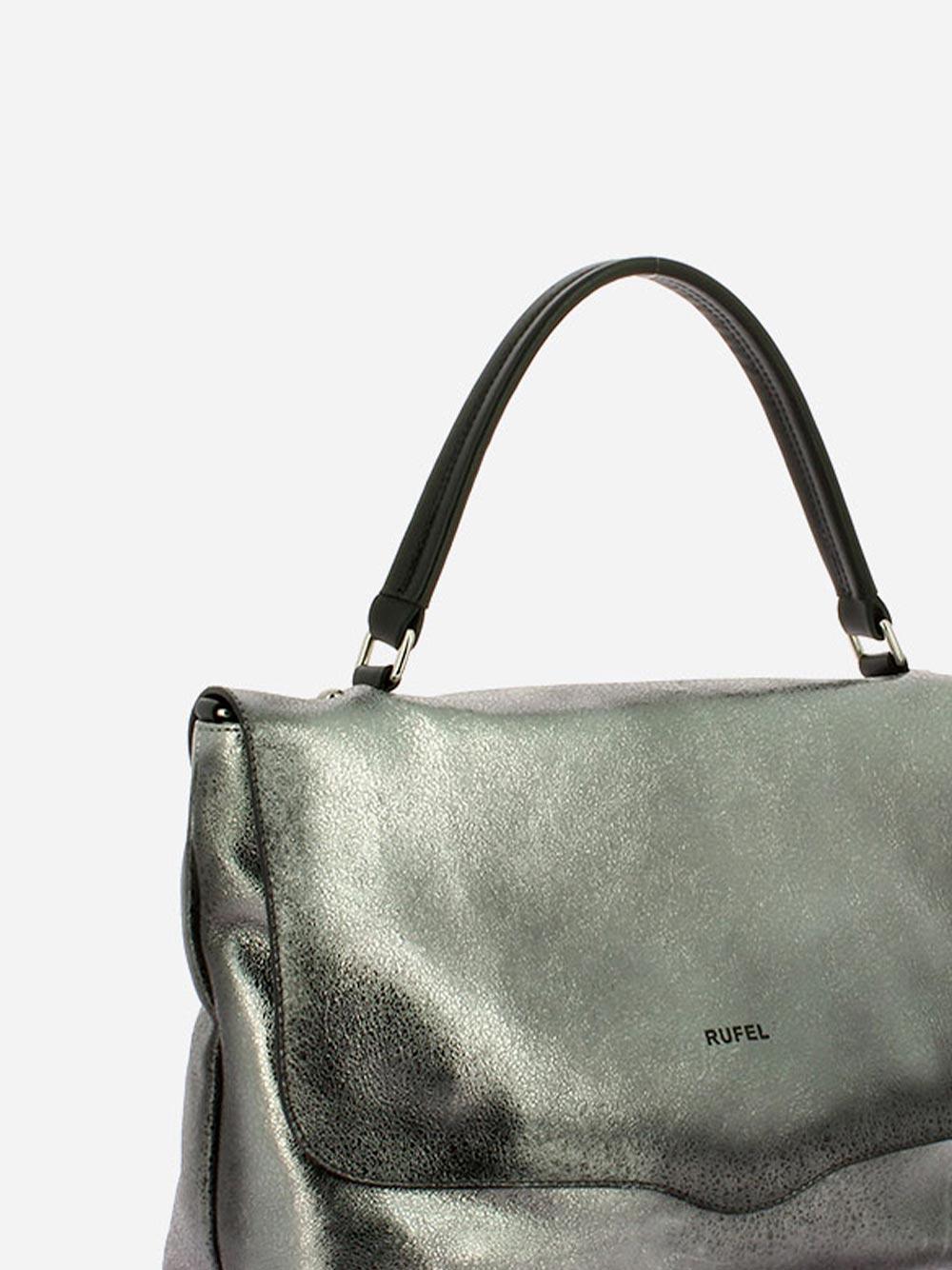 Laminated Silver Handbag