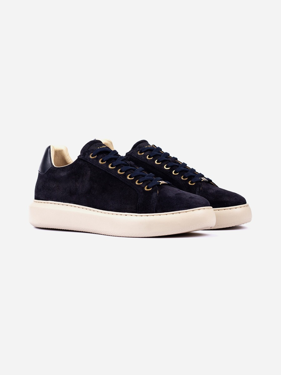 Navy Suede Sneakers