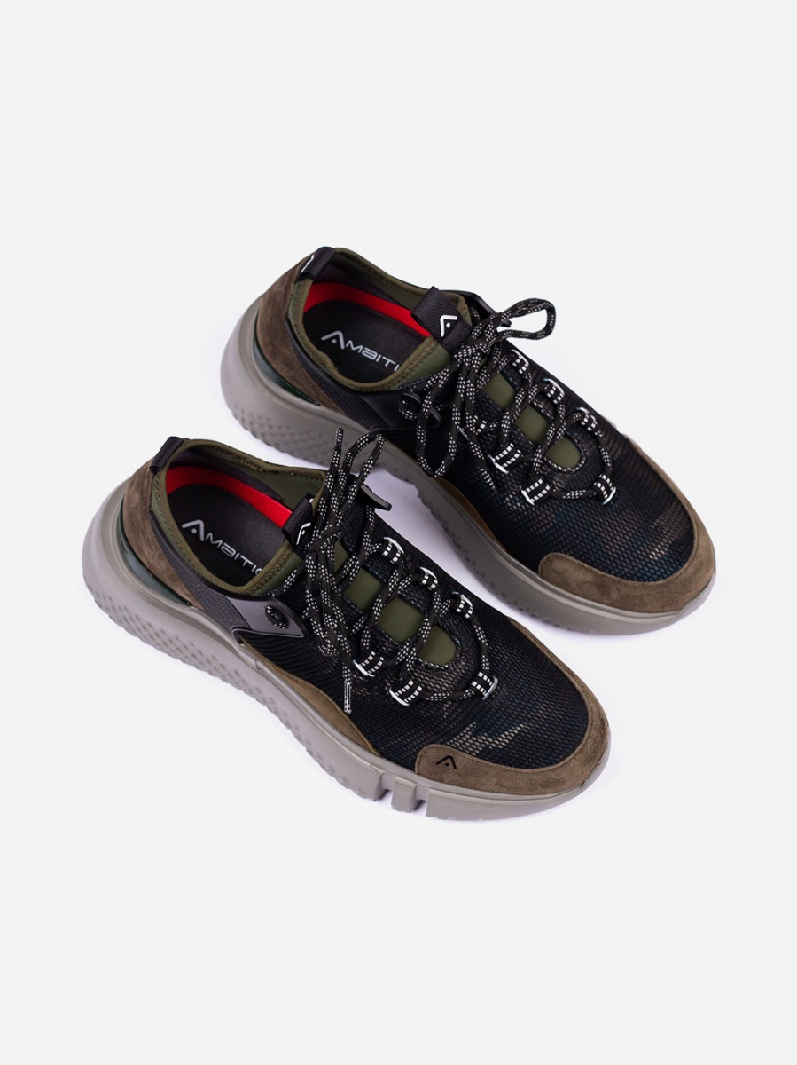 Olive Chunky Sneakers