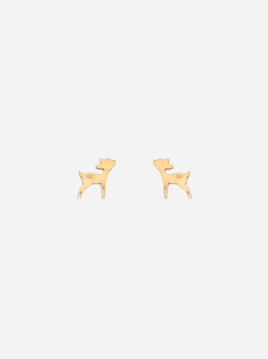 Brincos Nature Bambi Dourados | Coquine Jewelry