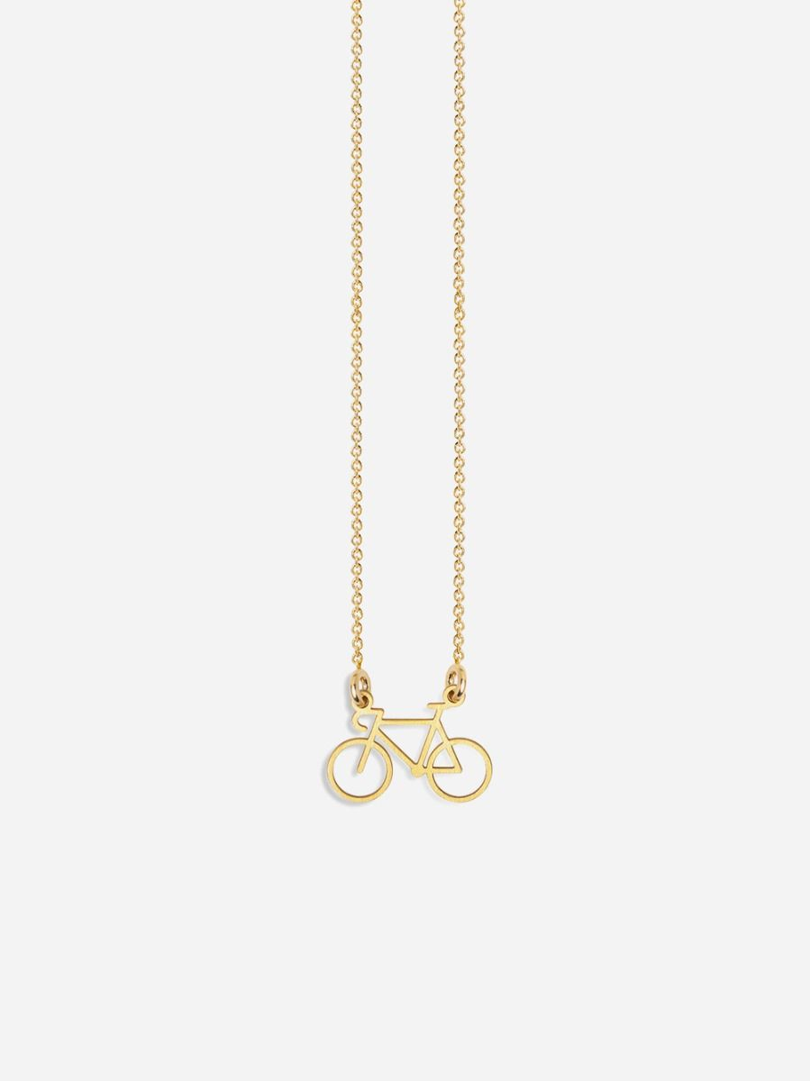 Colar Life Bicicleta Dourado   Coquine Jewelry
