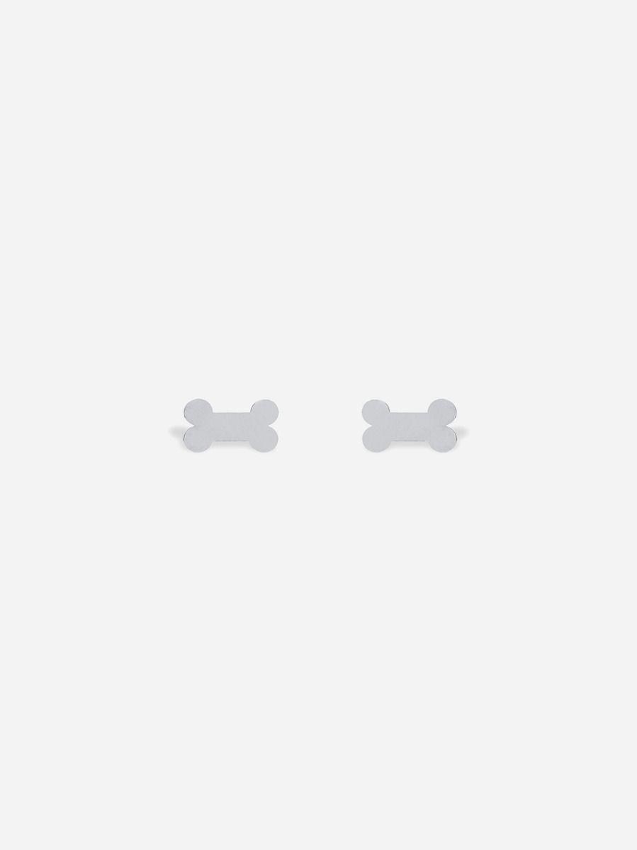 Brincos Osso Prateados | Coquine Jewelry