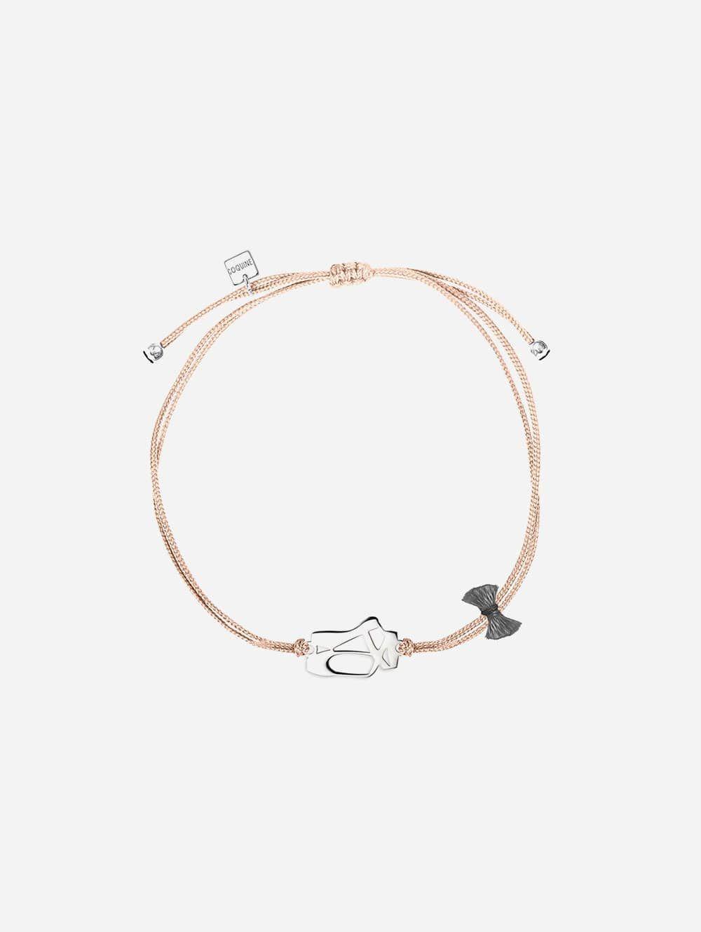 Silver Bracelet Ballerina-Linen String | Coquine Jewelry