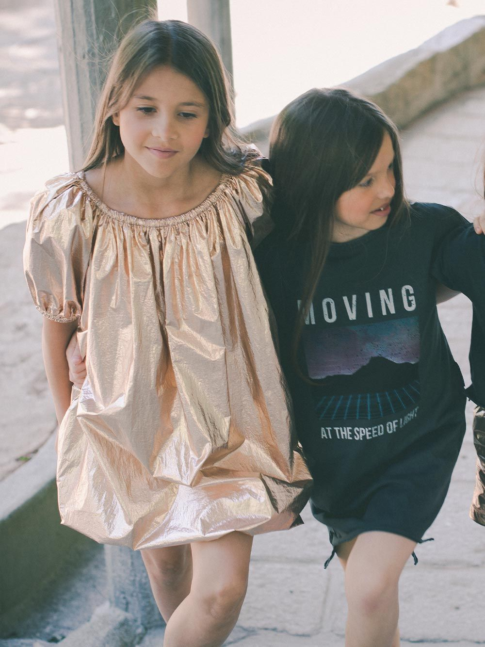 Vestido T-shirt Preto Estampado | Andorine