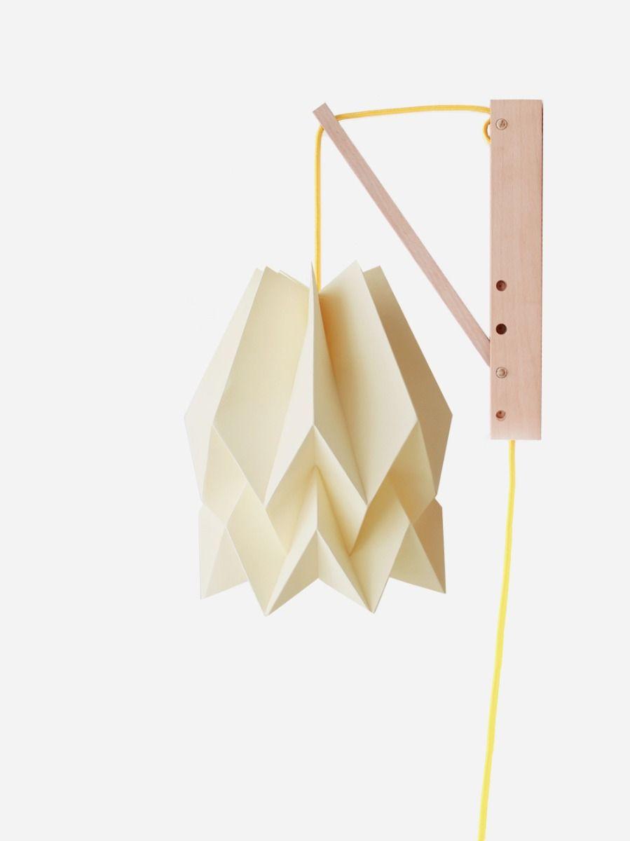 Candeeiro de Parede Liso Amarelo | Orikomi