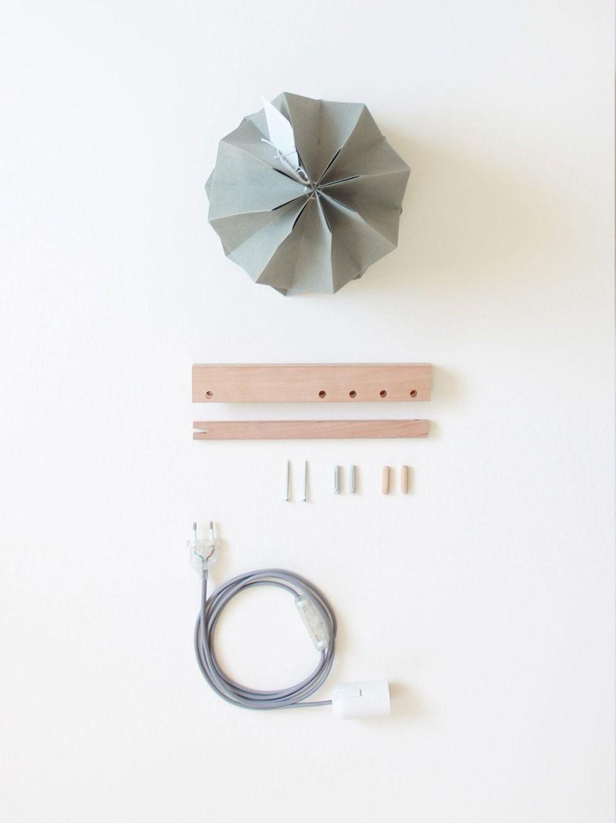 Candeeiro de Parede Bicolor Taupe | Orikomi