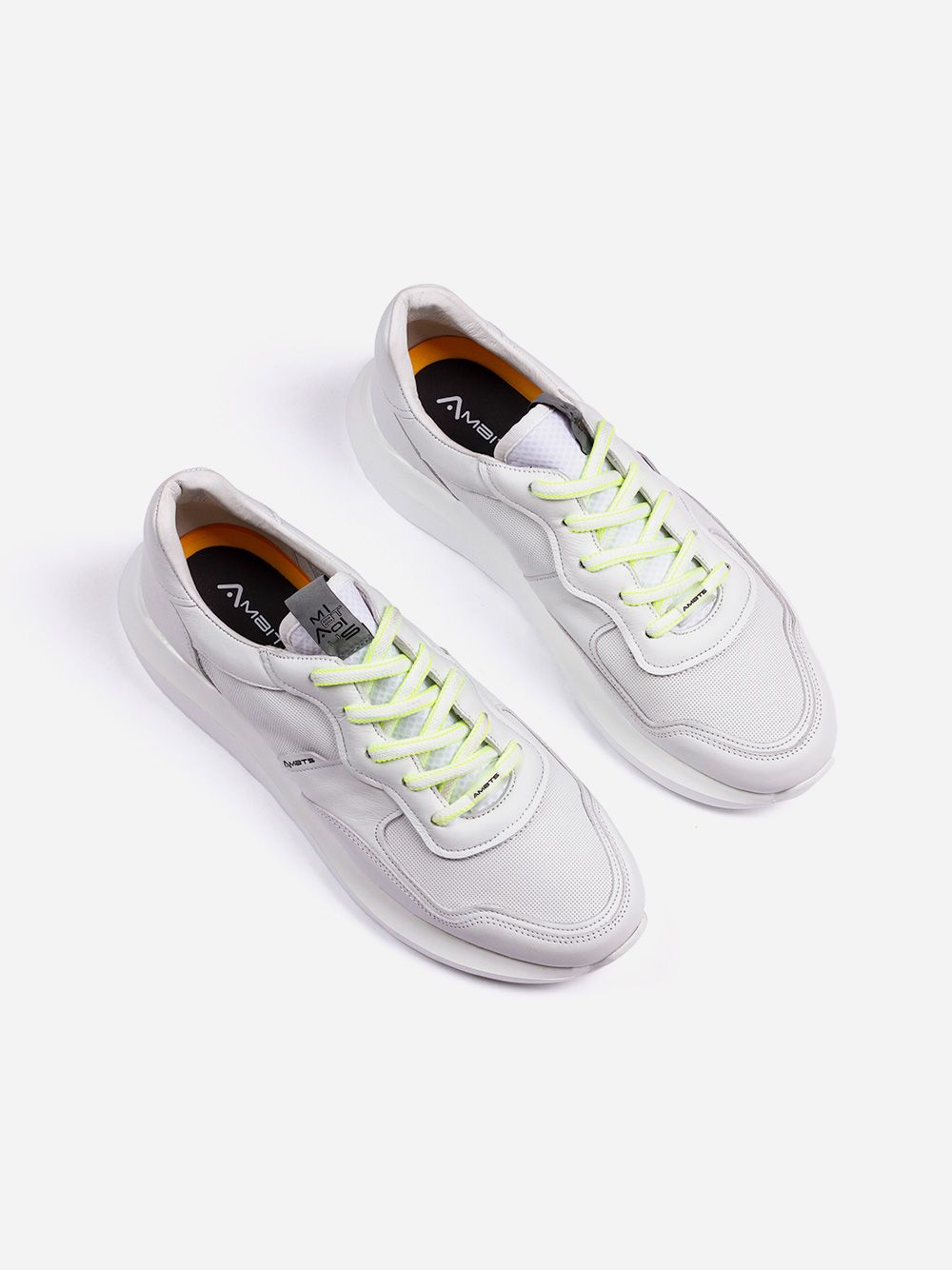 White Leather Sneakers | AMBITIOUS