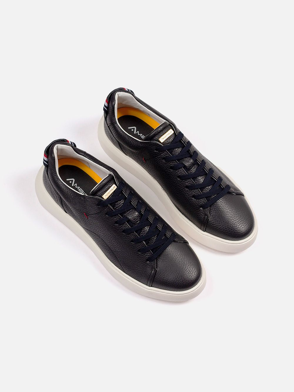 Black Leather Sneakers | AMBITIOUS
