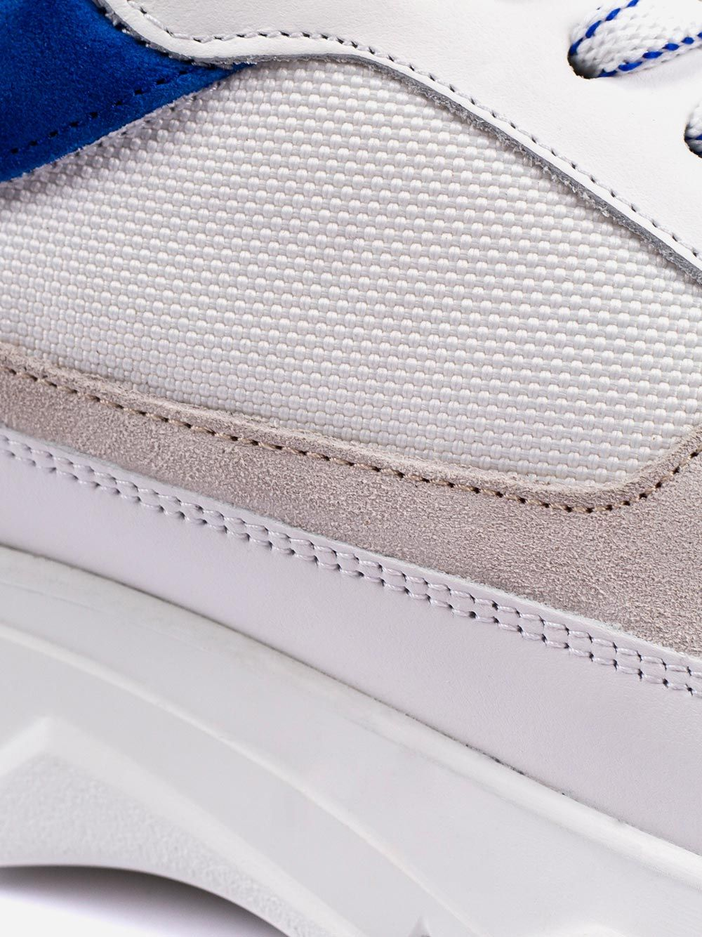 Blue Detail Sneakers | AMBITIOUS