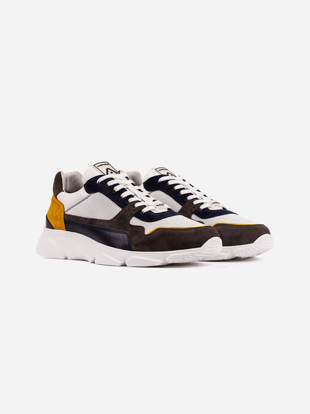 Leather and Suede Sneakers   AMBITIOUS