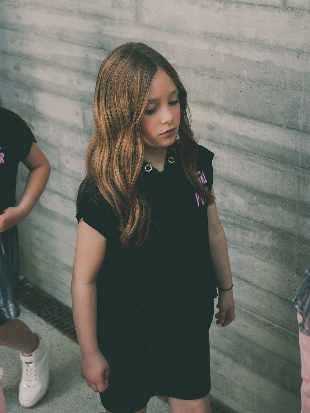 Vestido Sweat Preto Girl Power| Andorine