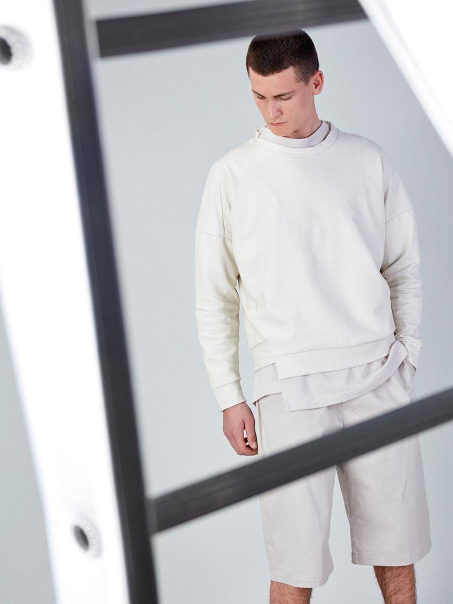 Sweatshirt Branca Assimétrica | Rita Sá