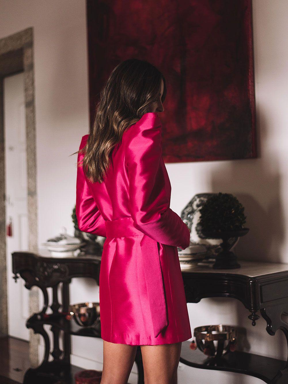 Vestido Casaco Rosa