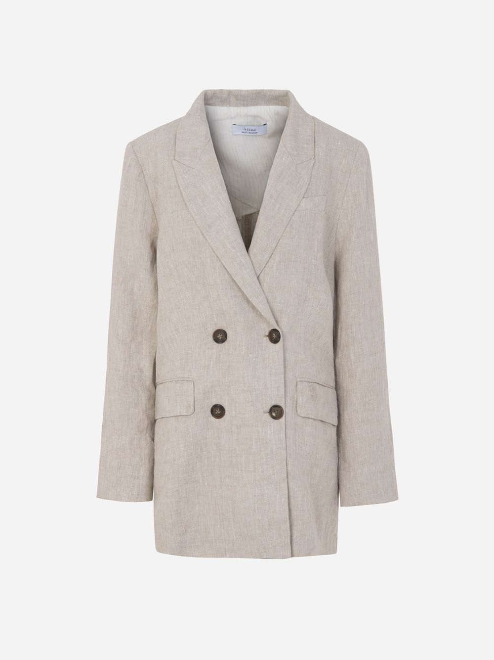 Loose Fit Linen Blazer | A-line Clothing