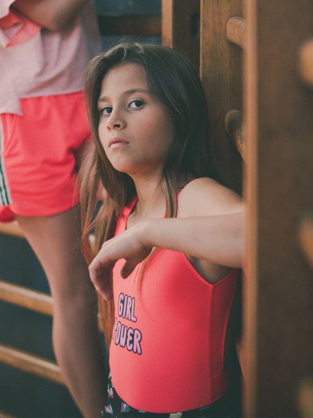 Fato de Banho Vermelho Girl Power | Andorine