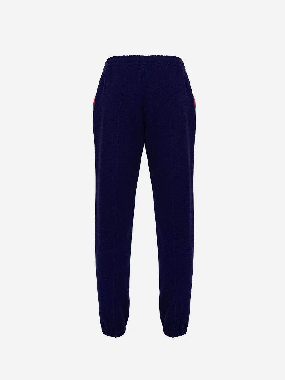 Calças Azul Wool Track
