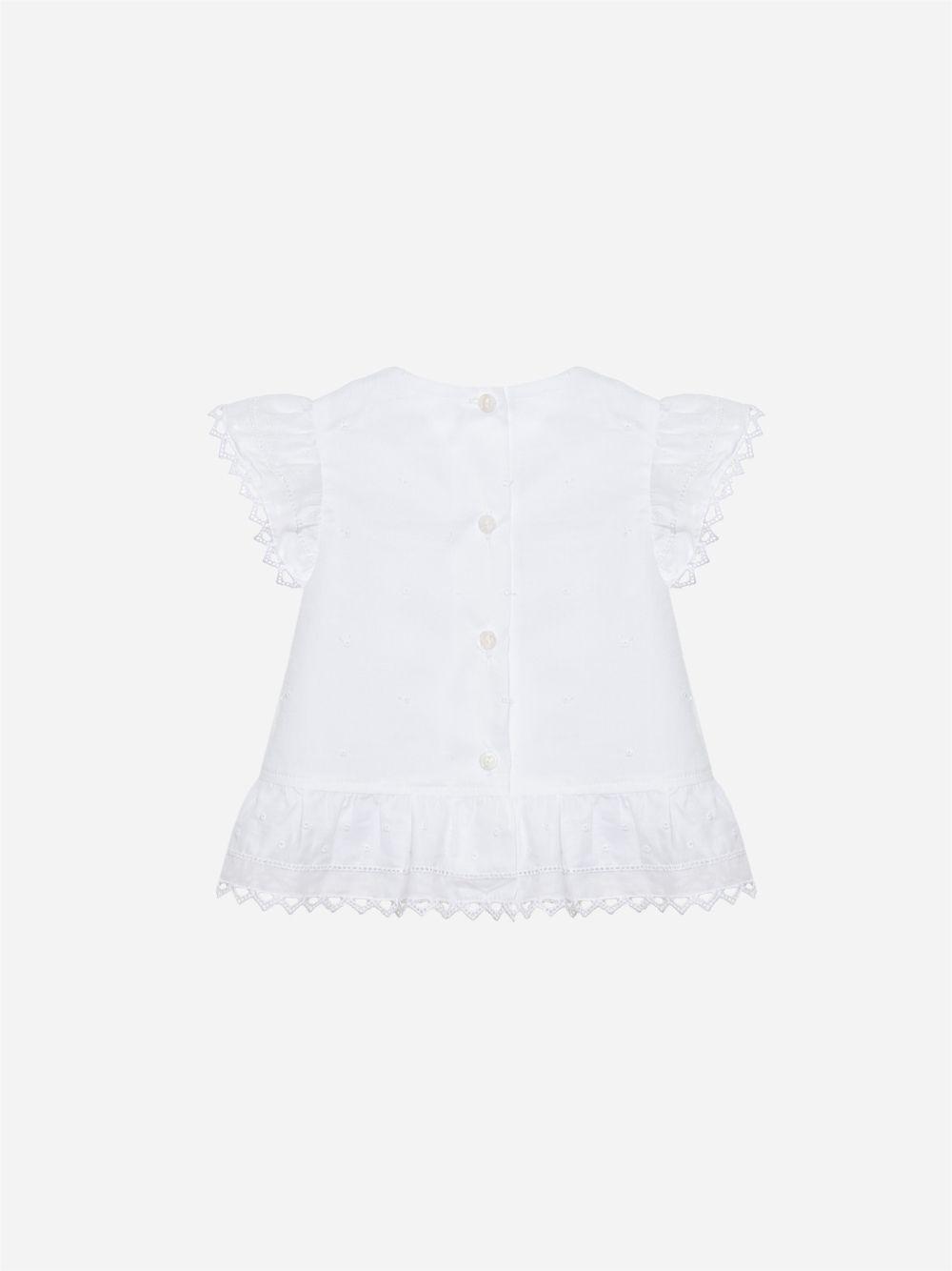 T-shirt em Voile Branco