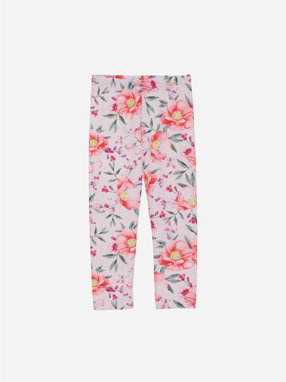 Legging em Jersey Floral