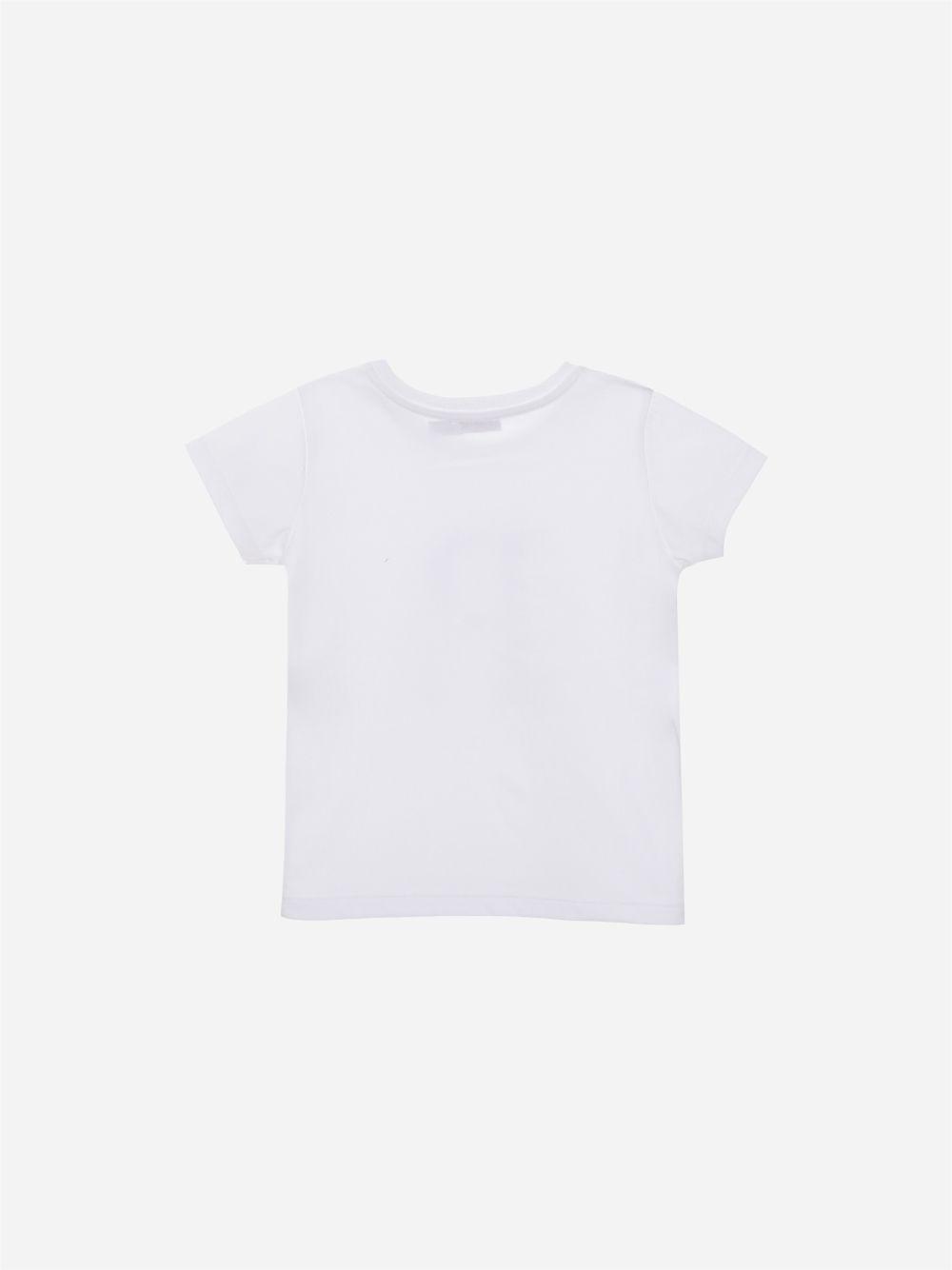 T-shirt em Jersey Branco Barco
