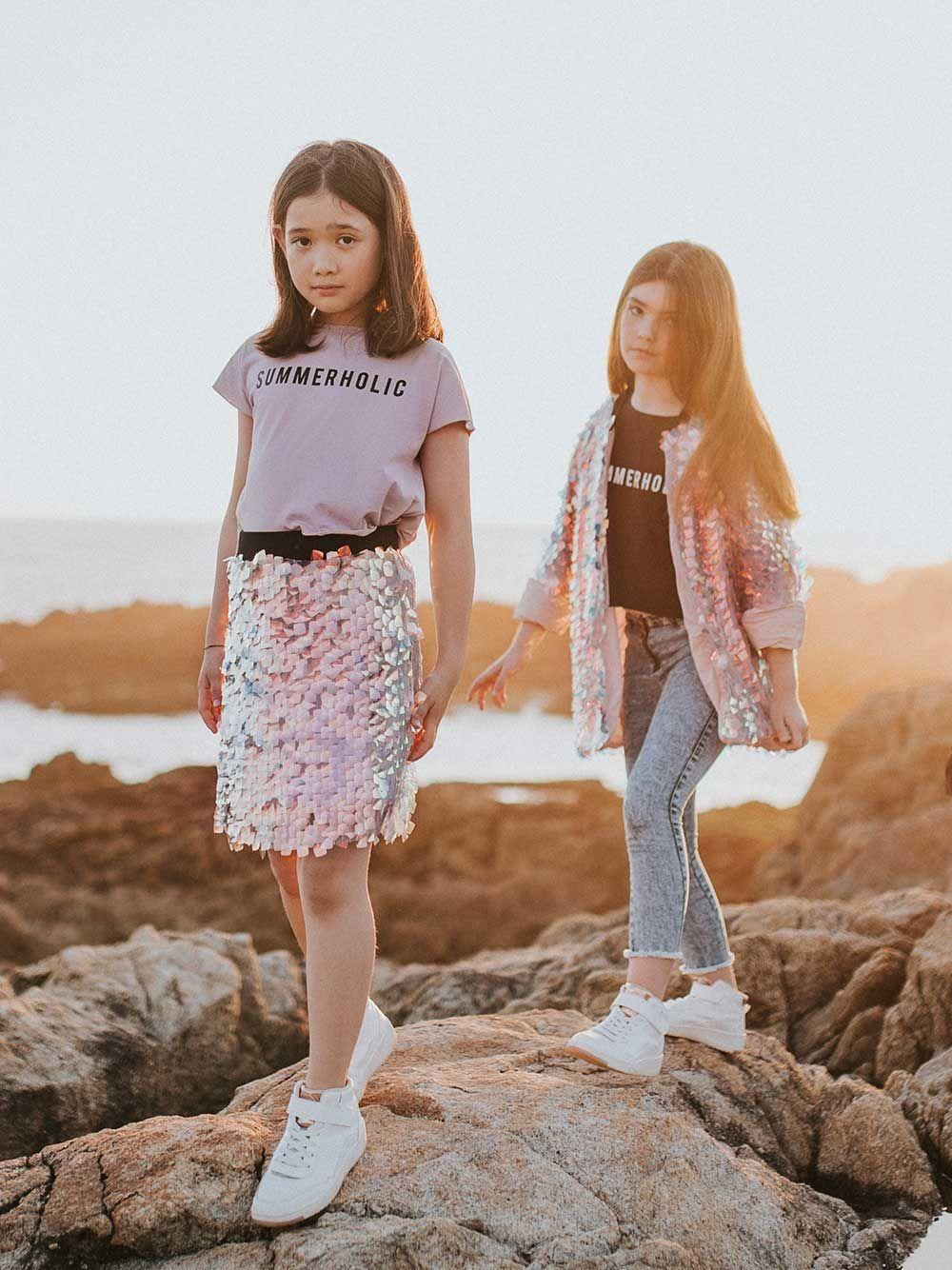 Summerholic Pink print T-shirt | Andorine