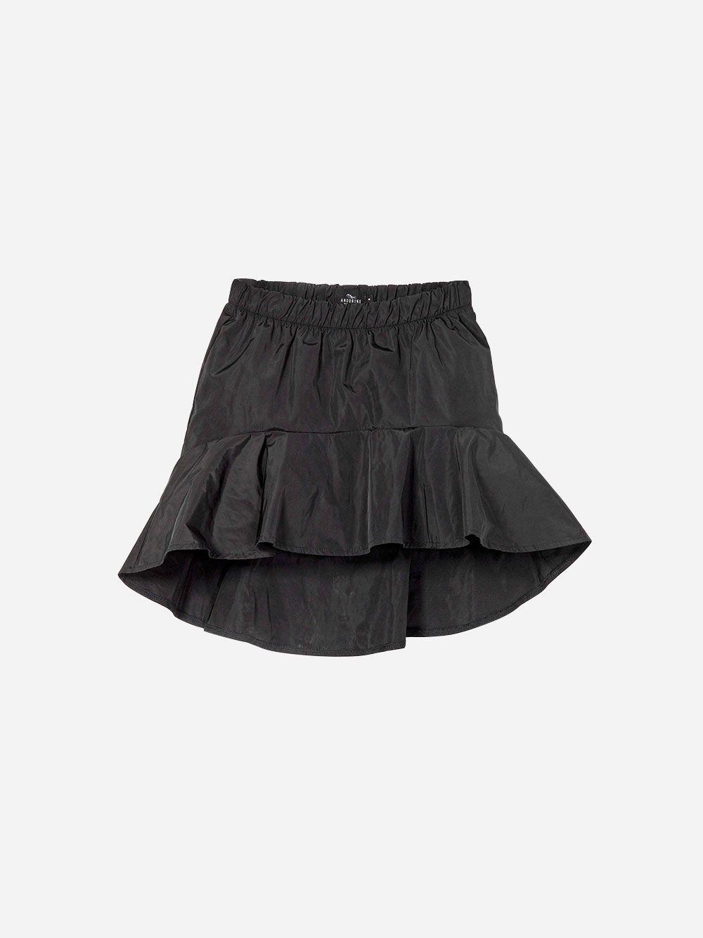 Black Ruffled Skirt | Andorine