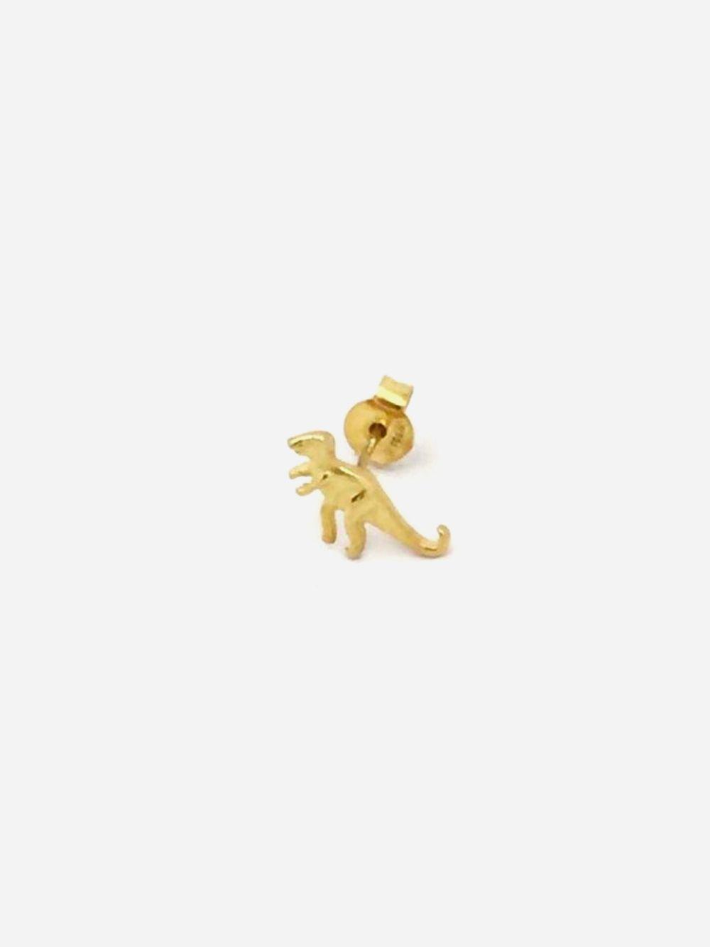 Gold Earrings Dinosaur | Made to Envy