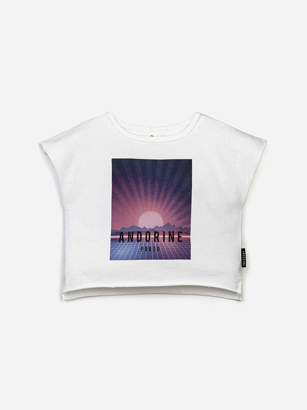 T-shirt Branca Estampada | Andorine