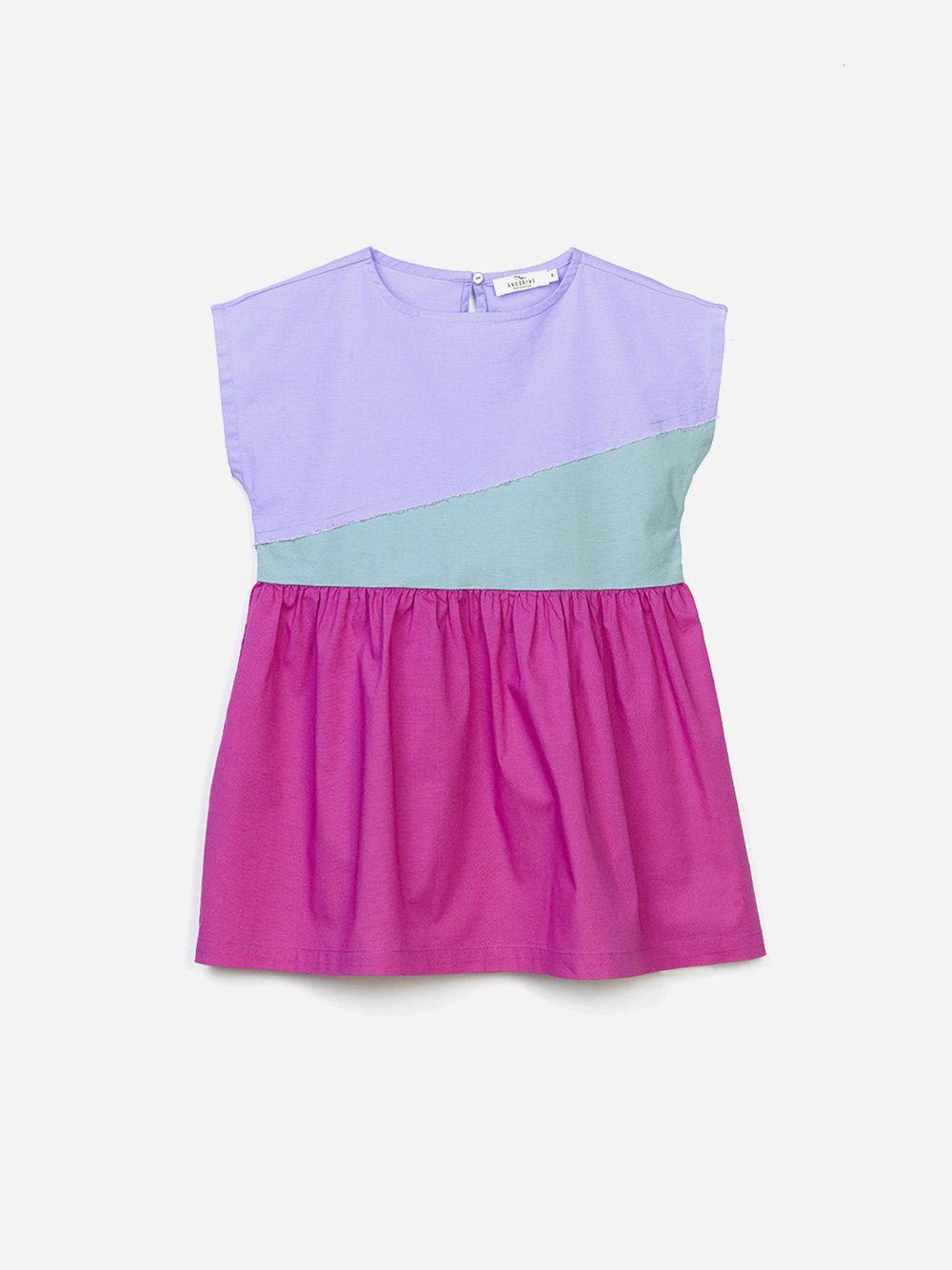 Vestido Color Block | Andorine