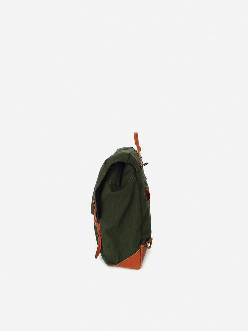 Alcaide Green Messenger Bag   Ideal & Co
