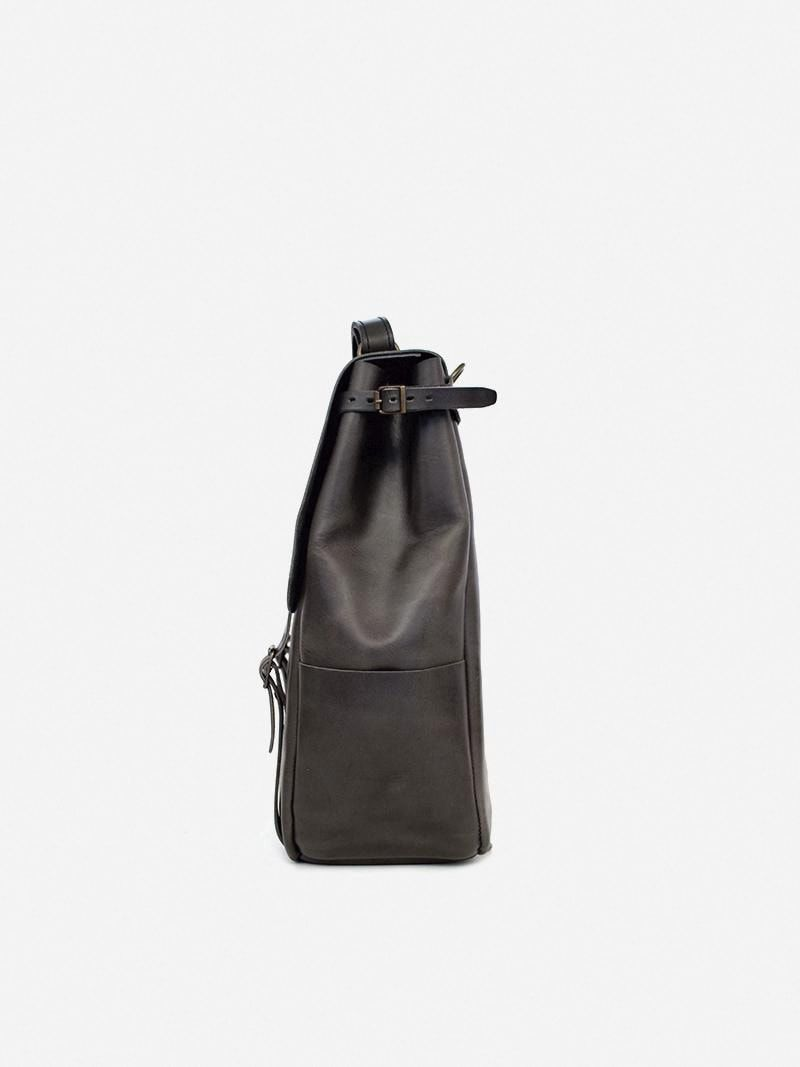 Candeeiros Grey Leather Backpack | Ideal & Co