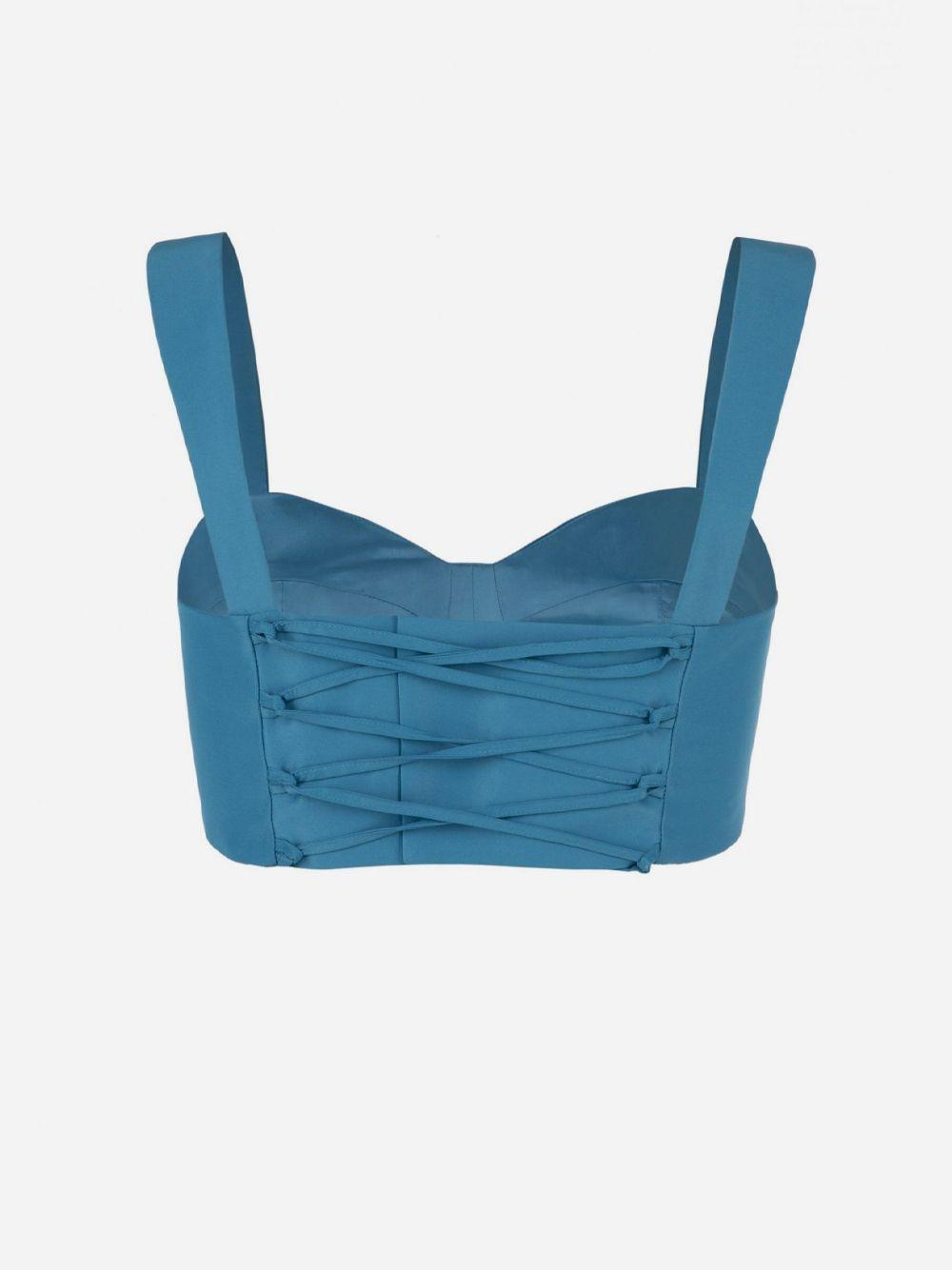 Top Bustier Azul