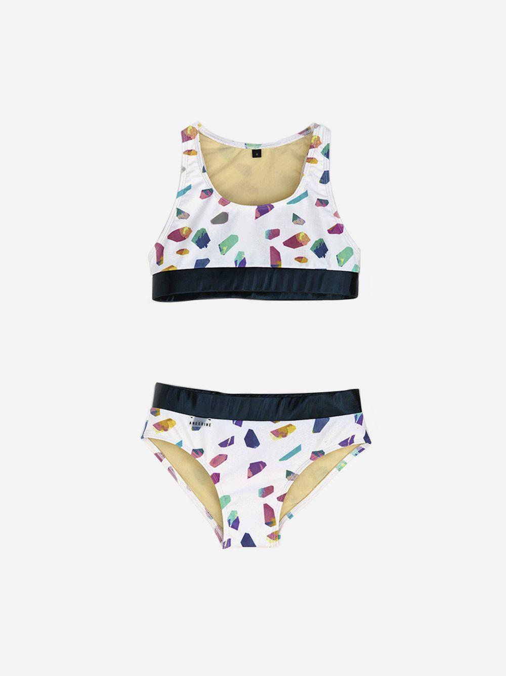 Conjunto Bikini Branco Estampado | Andorine