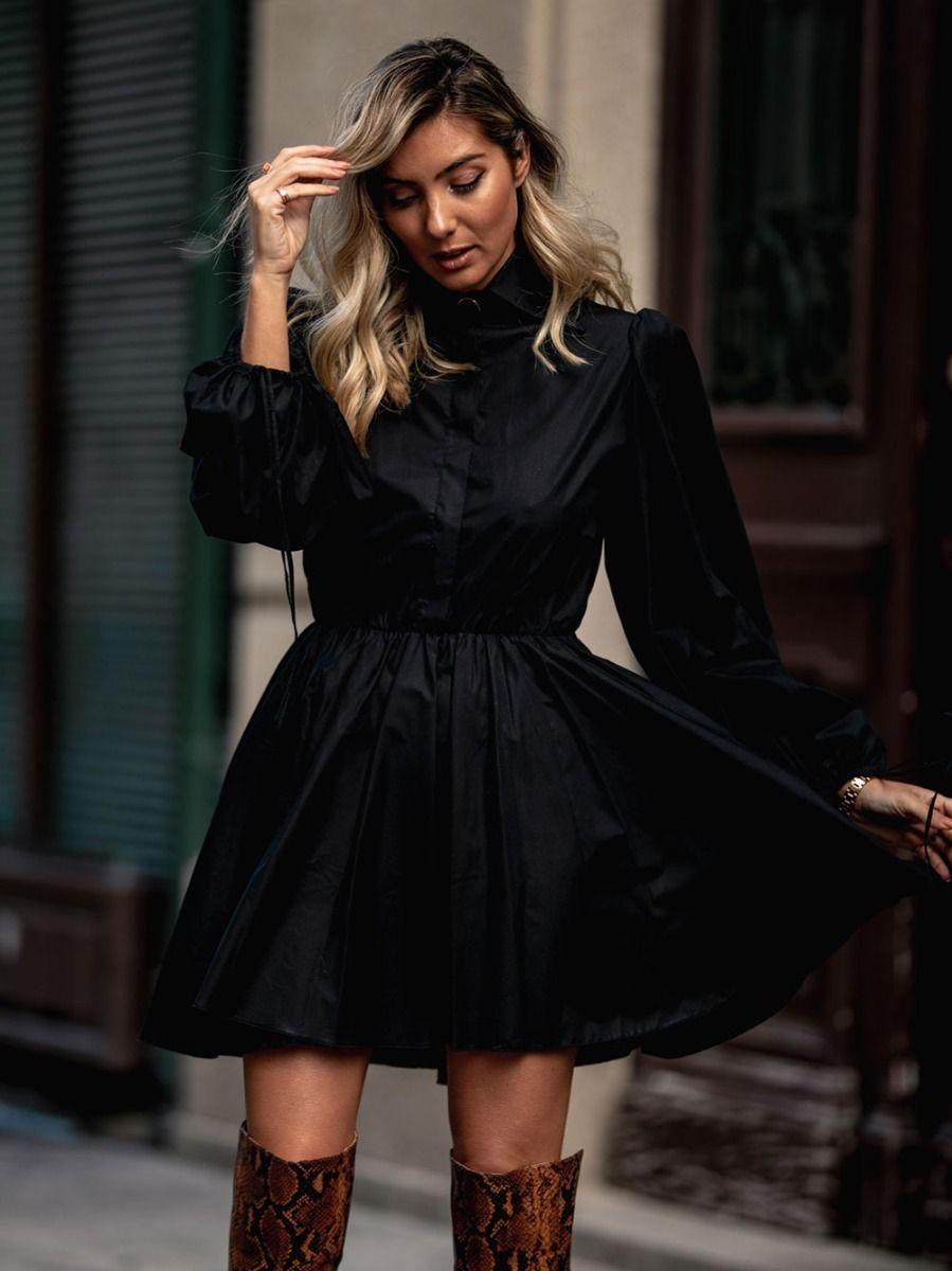 Vestido Preto Popeline | KAOÂ