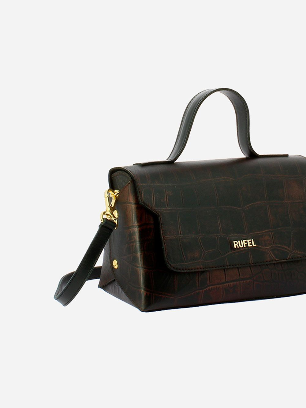 Aidi Bronze Crossbody Bag | Rufel