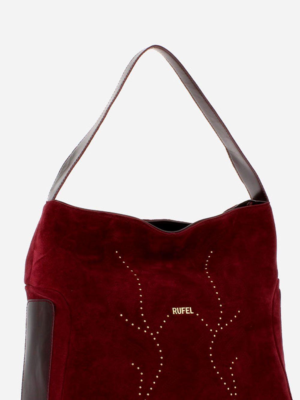 Suede Burgundy Shoulder Bag   Rufel