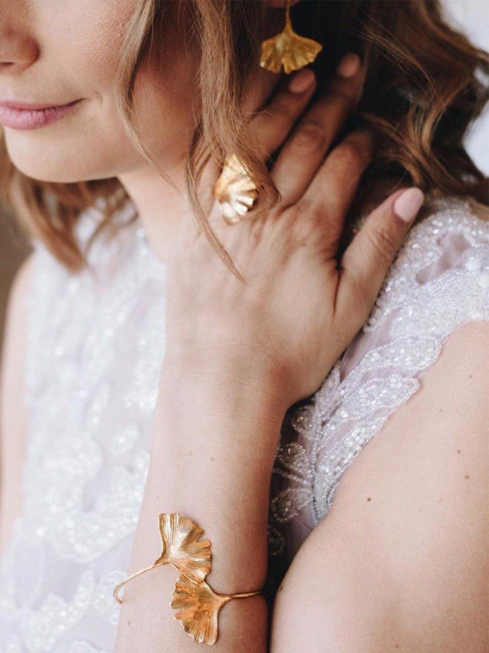Anel Ginkgo Dourado | Made to Envy